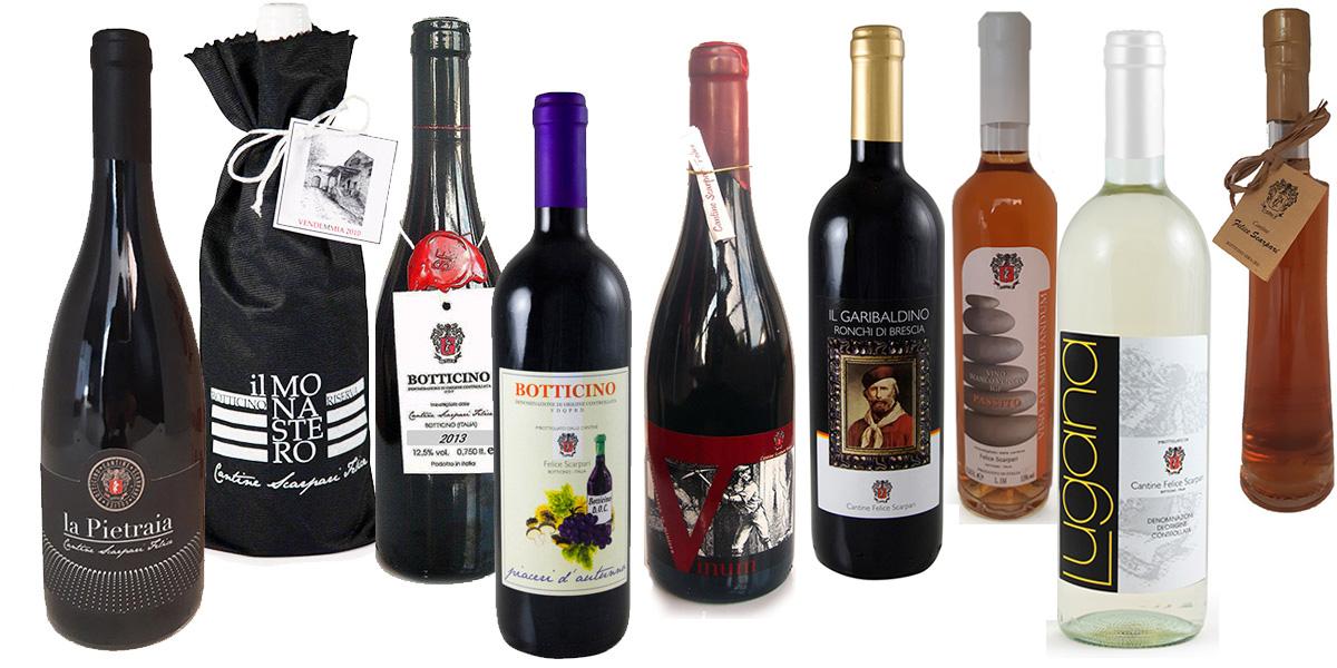 I vini delle Cantine Scarpari Felice